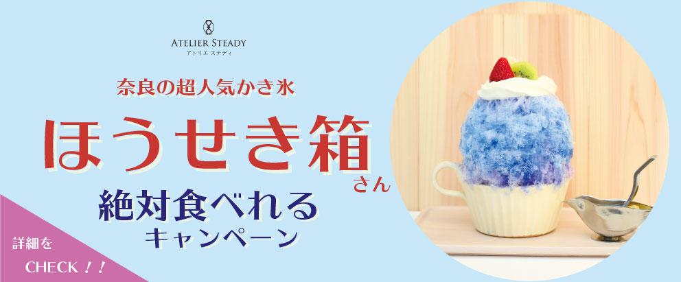 奈良の超人気かき氷ほうせき箱さん絶対食べれるキャンペーン